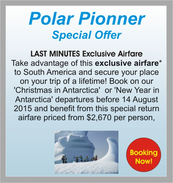 Polar Pionner, Special Offer, Exclusive Airfare